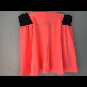 New Rue 21 orange skirt